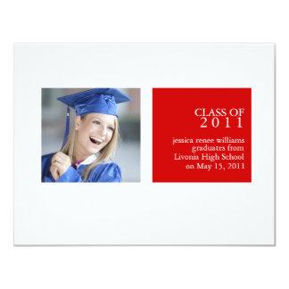 卒業 10.8 X 14 インビテーションカード