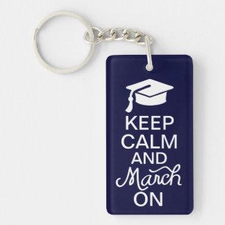 卒業Keychainの平静そして3月を保って下さい キーホルダー
