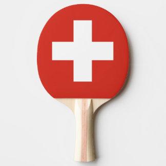 卓球のためのスイスの旗の卓球ラケット ピンポンラケット