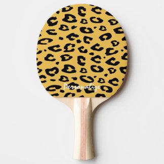 卓球のためのヒョウのプリントの卓球ラケット ピンポンラケット