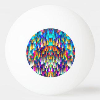 卓球のカラフルなデジタルに芸術のはねかけること 卓球ボール
