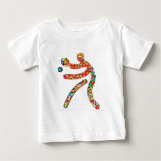 卓球のスポーツ ベビーTシャツ