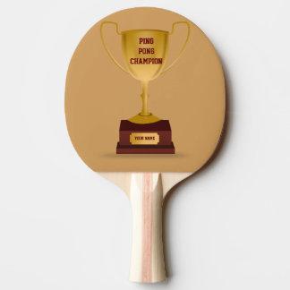 卓球のチャンピオンのトロフィのかい 卓球ラケット