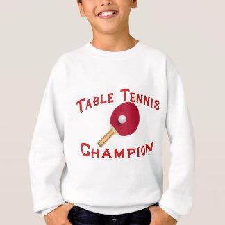 卓球のチャンピオン スウェットシャツ