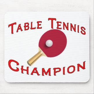 卓球のチャンピオン マウスパッド