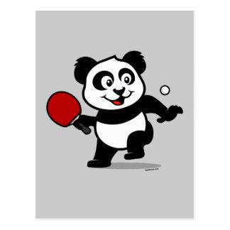 卓球のパンダ ポストカード
