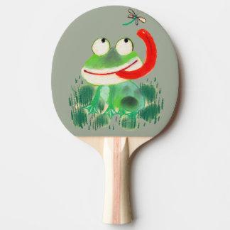 卓球のベビーのカエル 卓球ラケット