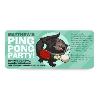 卓球の闘士の卓球のBinturongの漫画 カード