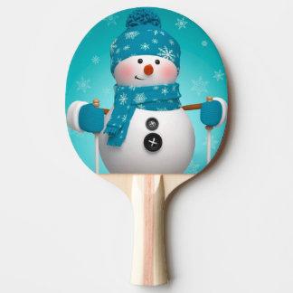 卓球ラケットか雪だるま 卓球ラケット
