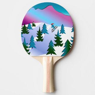 卓球ラケットのスキー斜面の芸術 卓球ラケット