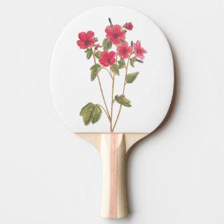 卓球ラケットの花のヴィンテージの絵 ピンポンラケット