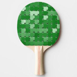 卓球ラケットの4葉のクローバーの抽象芸術 卓球ラケット