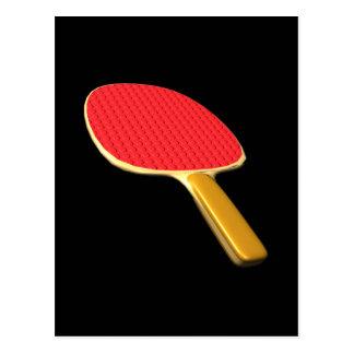卓球ラケット 葉書き