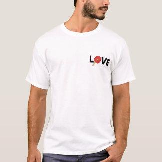 卓球愛紋章(赤い) Tシャツ