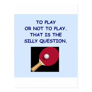卓球 ポストカード