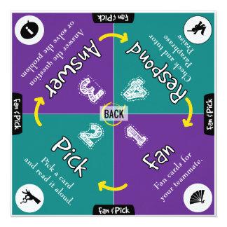 協力的な学ぶマットの共同作業の教室 カード