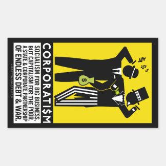 協調組合主義のステッカー 長方形シール