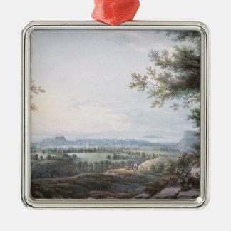 南からのエジンバラ、18世紀 メタルオーナメント
