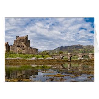 南から見られるパノラマのEilean Donanの城 カード