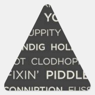 南ことわざ 三角形シール