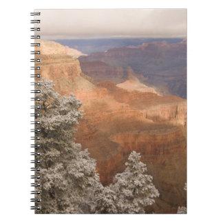 南に沿う景色の雪が多い冬の景色 ノートブック