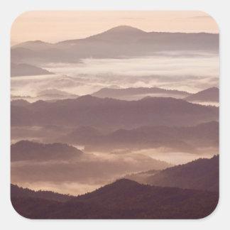 南アパラチア地方住民の朝の霧 スクエアシール