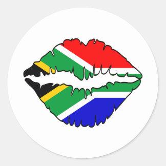 南アフリカのキスのテーマ ラウンドシール