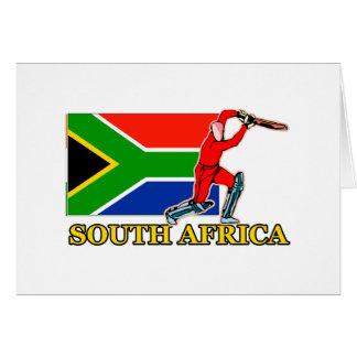 南アフリカのコオロギプレーヤー カード