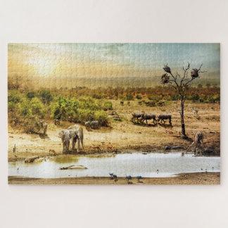 南アフリカのサファリのファンタジーの土地 ジグソーパズル