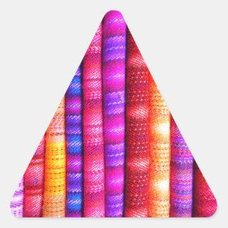 南アフリカのストライプな生地 三角形シール