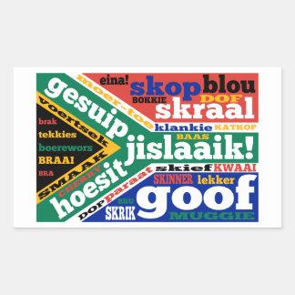 南アフリカの俗語およびcolloquialisms 長方形シール