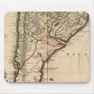 南アフリカの刻まれた地図 マウスパッド