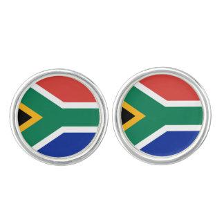 南アフリカの旗のカフスボタン カフリンク
