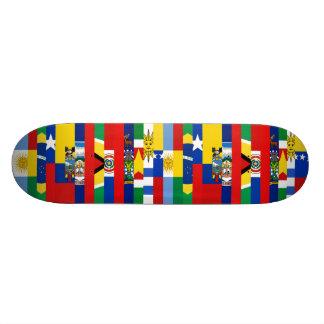 南アフリカの旗のスケートボード 18.1CM オールドスクールスケートボードデッキ