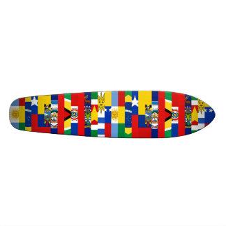 南アフリカの旗のスケートボード 21.6CM オールドスクールスケートボードデッキ