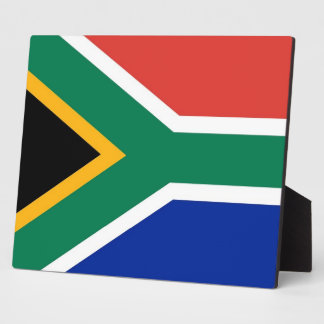 南アフリカの旗のプラク フォトプラーク