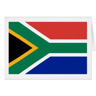 南アフリカの旗のメッセージカード カード