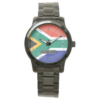 南アフリカの旗の名前をカスタムする ウォッチ