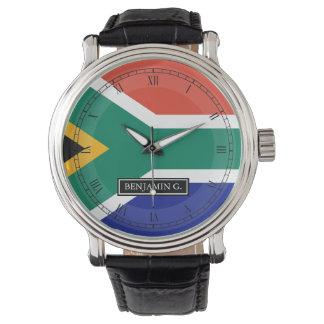 南アフリカの旗の名前をカスタムする リストウオッチ