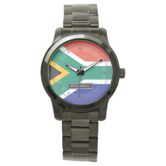 南アフリカの旗の名前をカスタムする 腕時計