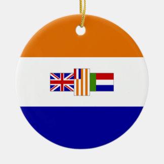 南アフリカの旗 セラミックオーナメント