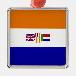 南アフリカの旗 メタルオーナメント