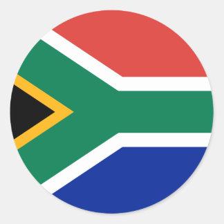 南アフリカの旗 ラウンドシール