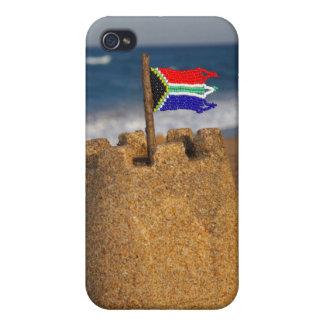 南アフリカの旗、Umhlangaが付いている砂の城 iPhone 4/4S Case