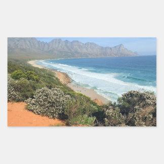 南アフリカの海岸 長方形シール