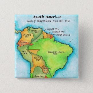 南アフリカの独立 5.1CM 正方形バッジ