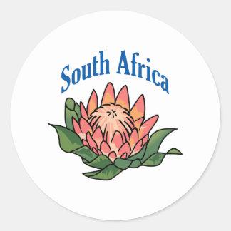 南アフリカの花 ラウンドシール