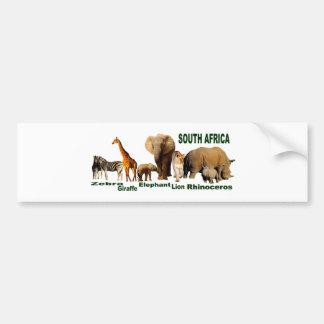 南アフリカの野性生物 バンパーステッカー
