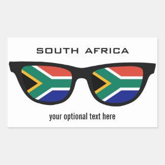 南アフリカの陰のカスタムのステッカー 長方形シール