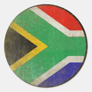 南アフリカ共和国からの涼しい旗が付いている円形のステッカー ラウンドシール